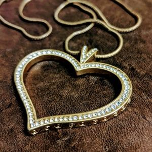 Brighton Swarovski Crystal Gold Heart